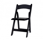 Black Wood Folding Chair