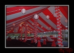 30 x 80 Red & White Pole Tent